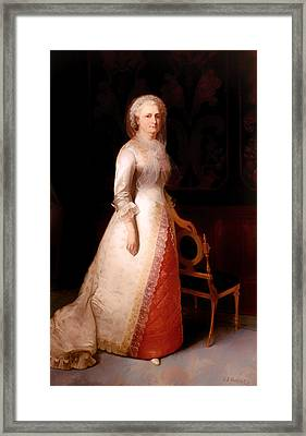 Martha Dandridge Custis Washington Framed Print by Mountain Dreams
