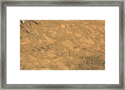 Martian Drilling Site Framed Print by Nasa/jpl-caltech