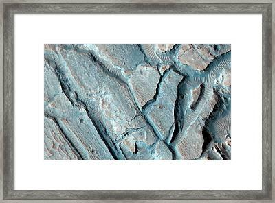 Martian Lake Sediments Framed Print by Nasa