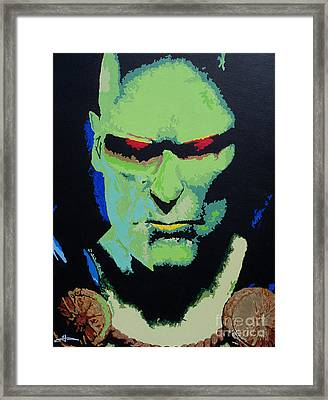 Martian Manhunter - A Close Encounter Framed Print by Kelly Hartman