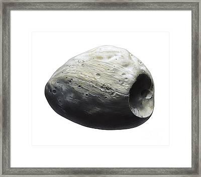 Martian Moon Phobos, Artwork Framed Print by Gary Hincks