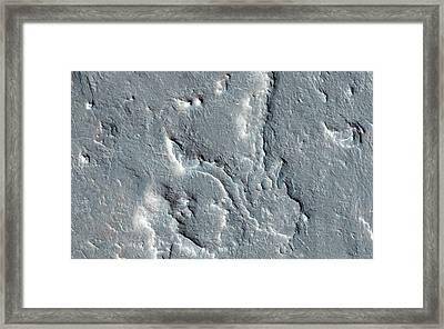 Martian Rover Landing Site Framed Print by Nasa/jpl-caltech/univ. Of Arizona