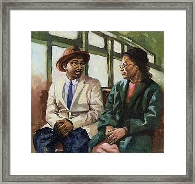 Martin And Rosa Up Front Framed Print by Colin Bootman