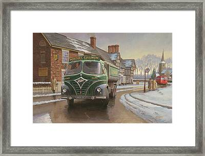 Martin C. Cullimore Tipper. Framed Print by Mike  Jeffries