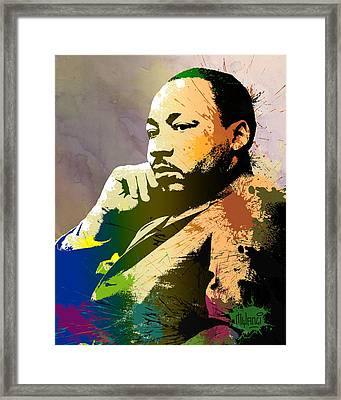 Martin Luther King Jr.  Framed Print by Anthony Mwangi