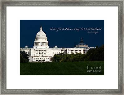 Martin Luther King Jr. Framed Print by Doug Sturgess