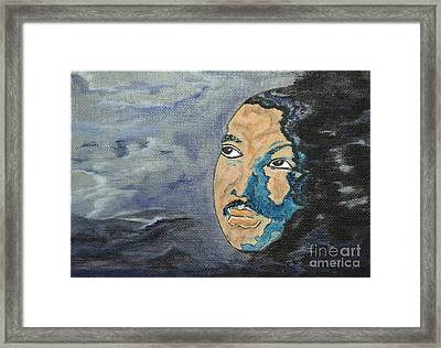 Martin Luther King Jr - Tribute Painting Print Framed Print by Ella Kaye Dickey
