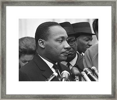 Martin Luther King, Jr Framed Print by Warren K. Leffler