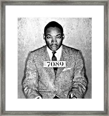 Martin Luther King Mugshot Framed Print by Some Cracker