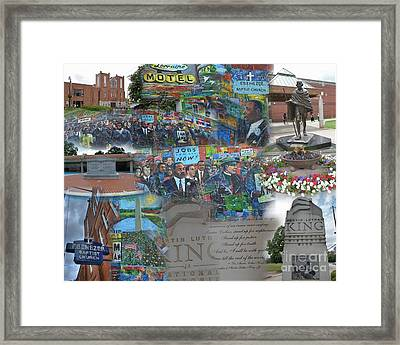 Martin Luther King National Historic Site Framed Print by David Bearden