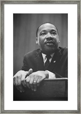 Martin Luther King Press Conference 1964 Framed Print by Anonymous