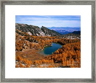 Martin Peak And Cooney Lake Framed Print by Tracy Knauer