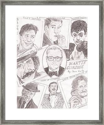 Martin Scorsese Framed Print by Sean Cordy