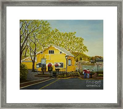 Martine's Riverhouse Framed Print by Lynda Evans