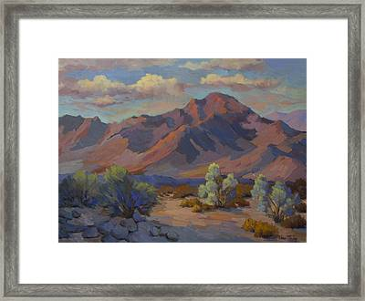 Martinez Mountain In La Quinta Cove Framed Print by Diane McClary