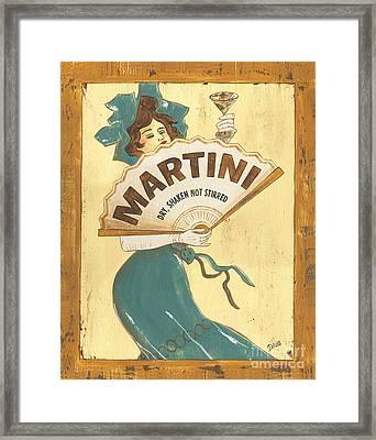 Martini Dry Framed Print by Debbie DeWitt