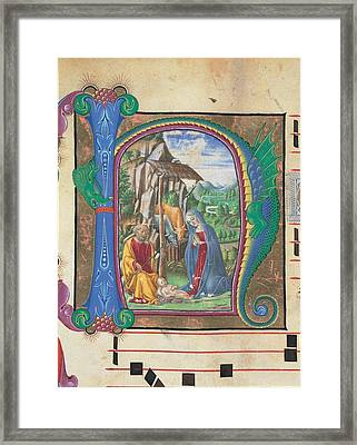 Martini Francesco Di Giorgio, Nativity Framed Print by Everett