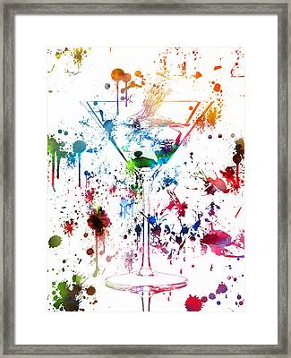 Martini Watercolor  Framed Print by Dan Sproul