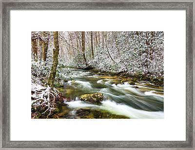 Martins Fork Winter Framed Print by Anthony Heflin