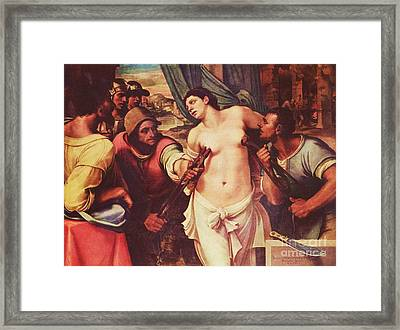 Martyrdom Of St Agatha Framed Print by Pg Reproductions