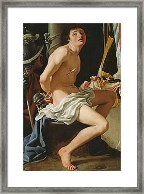 Martyrdom Of St Sebastian Framed Print by Bartolomeo Schedoni