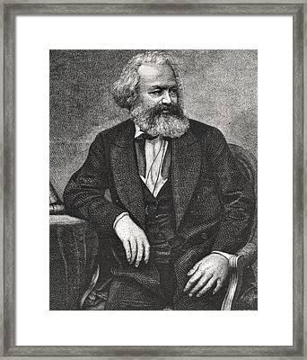 Marx Framed Print by French School