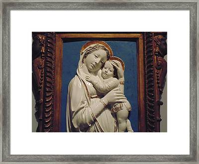 Mary And Baby Jesus Framed Print by Dotti Hannum