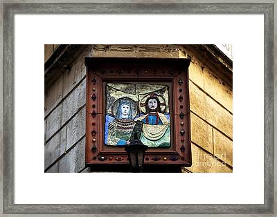 Mary And Joseph Framed Print by John Rizzuto