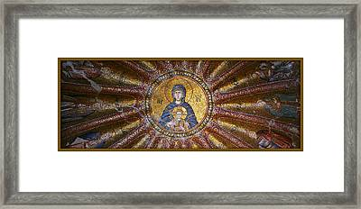 Blessed Virgin Mary And The Child Jesus Framed Print by Stephen Stookey