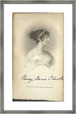 Mary Anne Clarke Framed Print by British Library