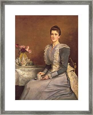 Mary Chamberlain Framed Print by John Everett Millais