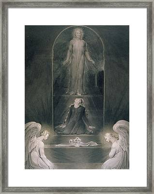 Mary Magdalene At The Sepulchre Framed Print by William Blake