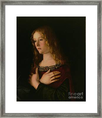 Mary Magdalene Framed Print by Giovanni Bellini