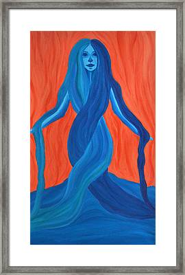 Mary - Mother Of Earth - Mother Of Light Framed Print by Daina White