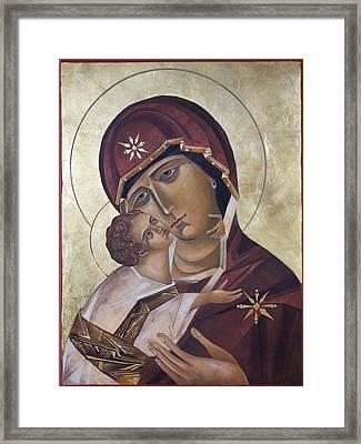 Mary Of Valdamir Framed Print by Mary jane Miller