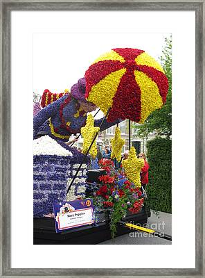 Mary Poppins. Flower Parade. Blumencorso Holland 2011 Framed Print by Ausra Paulauskaite
