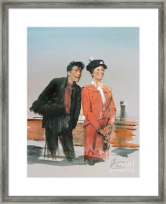 Mary Poppins Framed Print by Roger Lighterness