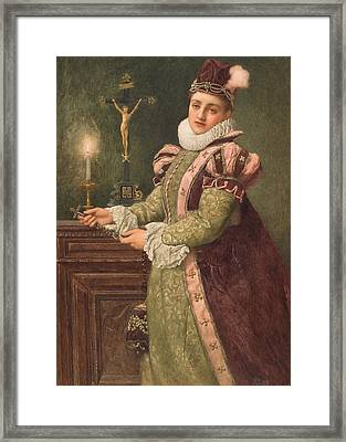 Mary Queen Of Scots Framed Print by Sir James Dromgole Linton