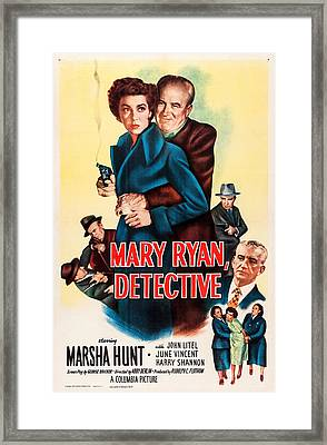 Mary Ryan, Detective, Us Poster Framed Print by Everett