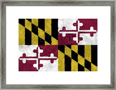 Maryland Flag Framed Print by World Art Prints And Designs