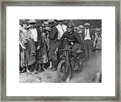 Maryland Motorcycle Club Framed Print by Underwood Archives