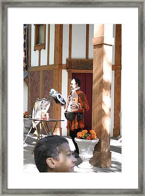 Maryland Renaissance Festival - Johnny Fox Sword Swallower - 121210 Framed Print by DC Photographer