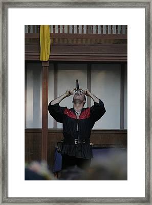 Maryland Renaissance Festival - Johnny Fox Sword Swallower - 1212110 Framed Print by DC Photographer
