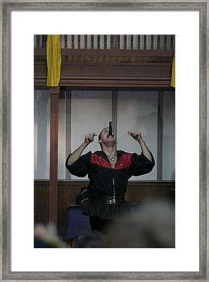 Maryland Renaissance Festival - Johnny Fox Sword Swallower - 1212111 Framed Print by DC Photographer