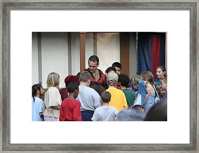 Maryland Renaissance Festival - Johnny Fox Sword Swallower - 1212131 Framed Print by DC Photographer