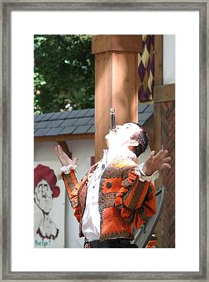 Maryland Renaissance Festival - Johnny Fox Sword Swallower - 121217 Framed Print by DC Photographer