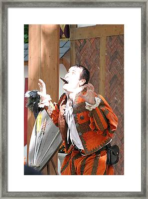 Maryland Renaissance Festival - Johnny Fox Sword Swallower - 121221 Framed Print by DC Photographer