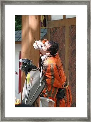 Maryland Renaissance Festival - Johnny Fox Sword Swallower - 121223 Framed Print by DC Photographer