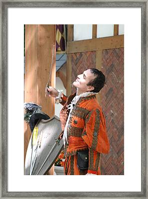 Maryland Renaissance Festival - Johnny Fox Sword Swallower - 121224 Framed Print by DC Photographer