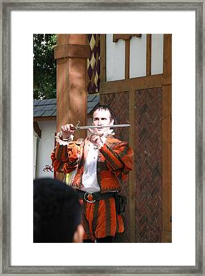 Maryland Renaissance Festival - Johnny Fox Sword Swallower - 121225 Framed Print by DC Photographer